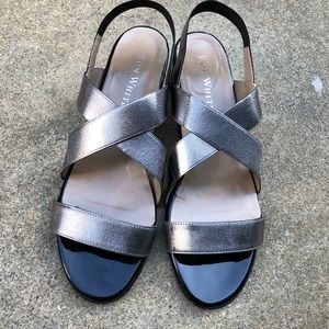 Ron White Eve Pewter Silver Sandals 38.5 NIB